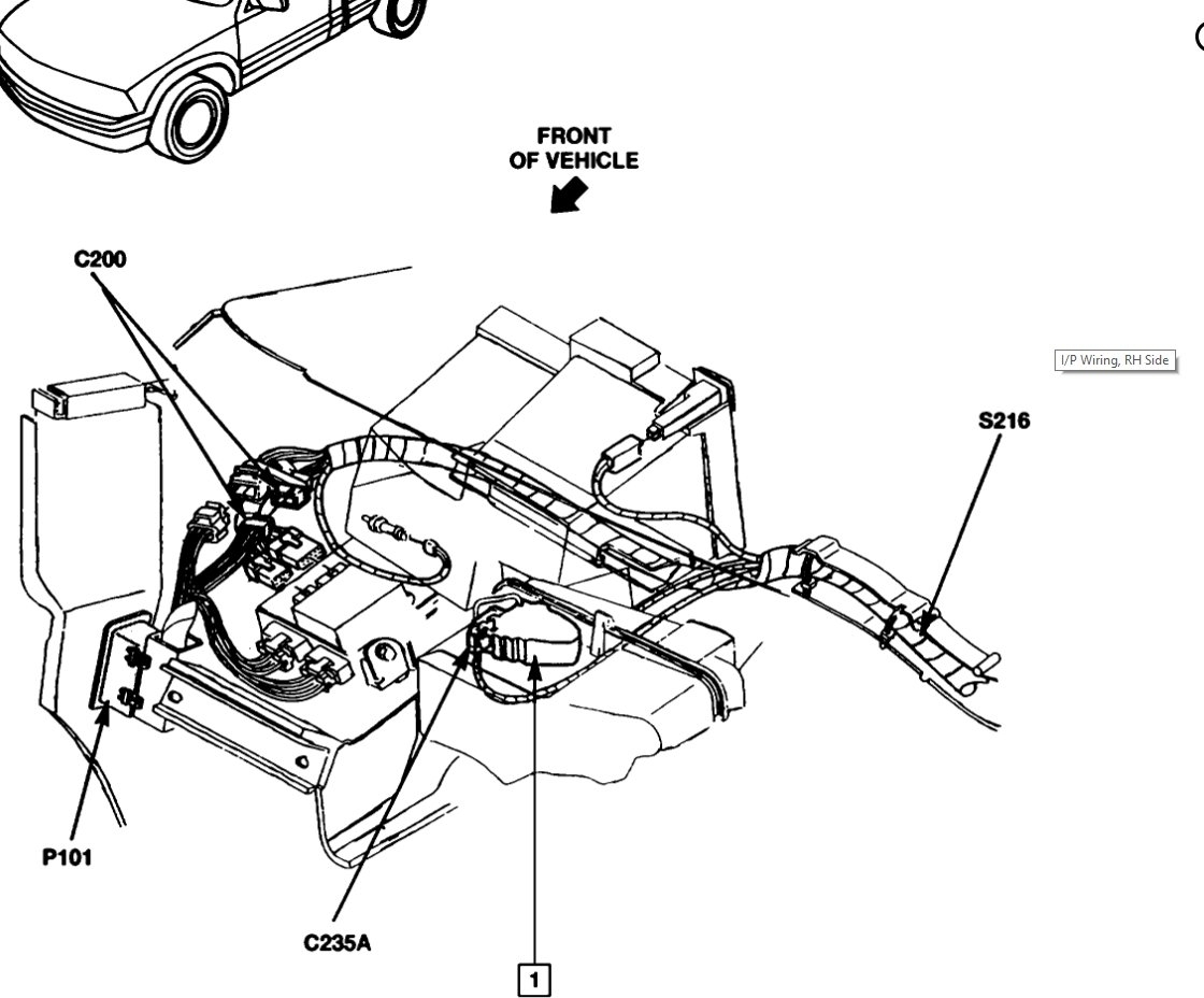 heater core 2000 gmc jimmy engine diagram