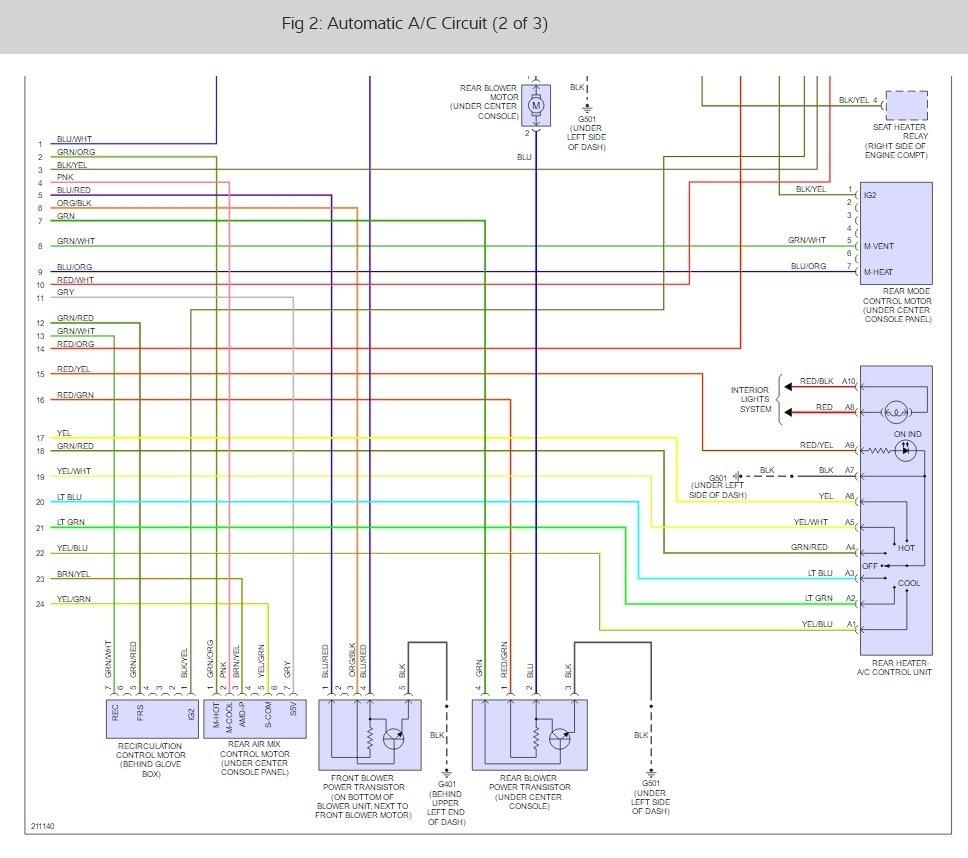 No Heat: I Have a 2005 Honda Pilot/nav. System.my Problem Is No or... | 2005 Honda Pilot Wiring Diagram Hvac |  | 2CarPros