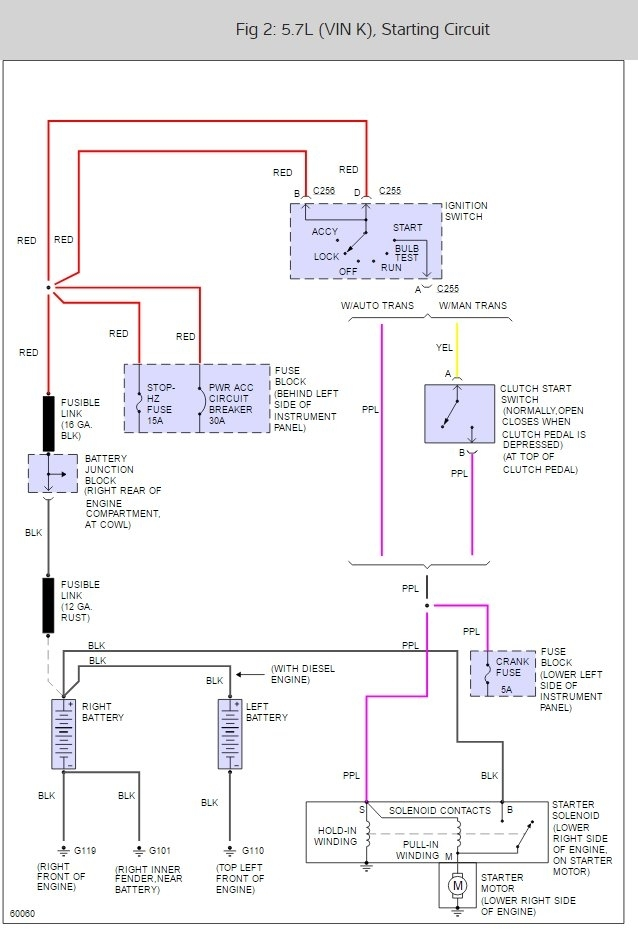 Starter Wiring Diagram For 2002 Suburban