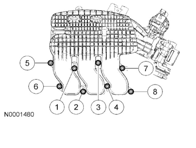 service manual  2005 mercury montego spark plug removal