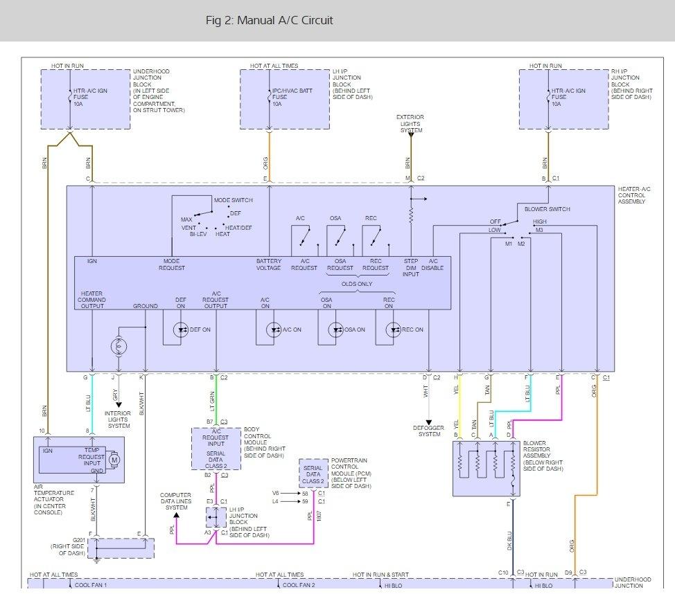 2002 Olds Alero Engine Diagram: Cooling Fans Not Working: Engine Cooling Problem 6 Cyl