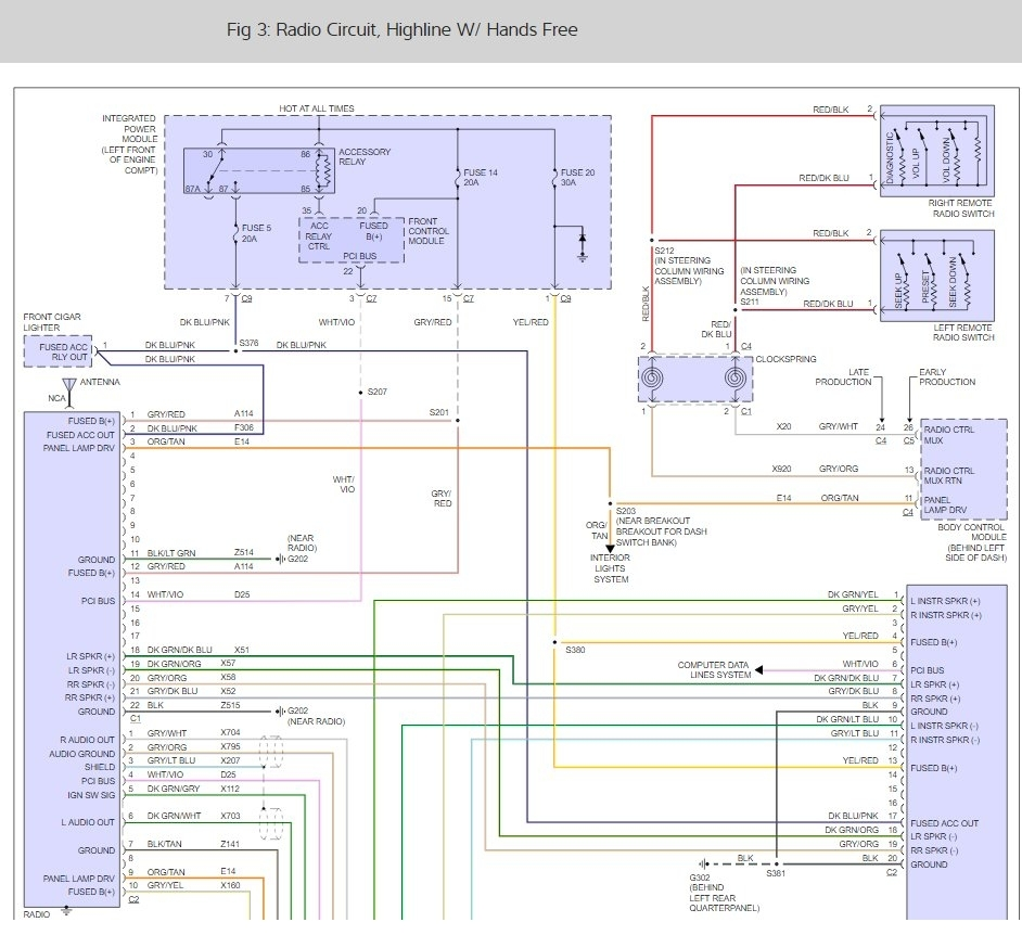 original Radio Wiring Diagram Chrysler Town Amp Country on