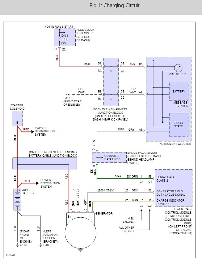 Voltage Regulator Wiring Diagram 99 Tahoe - All Diagram