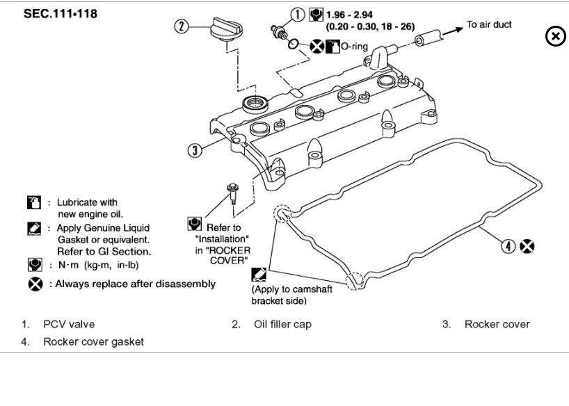 2005 infiniti g35 engine diagram valve covers
