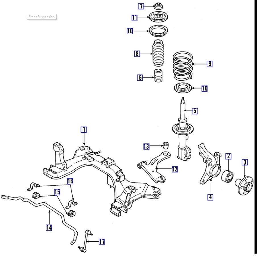 rattling, clunking noise in front end this noise is driving us 1996 Ford Contour Front Suspension Diagram