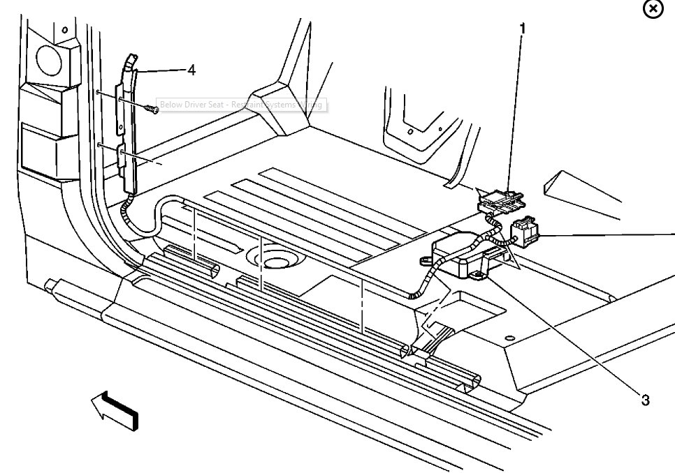 grand am air bag module location