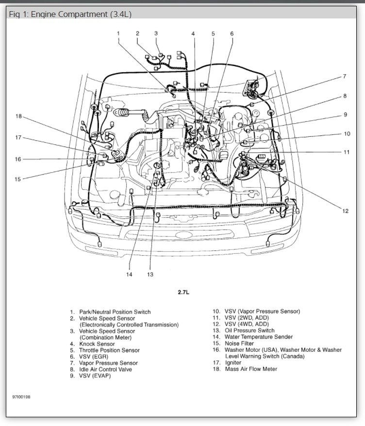 toyota knock sensor where is the knock sensor on the 2004 toyotaToyota 4runner Knock Sensor Diagram #1