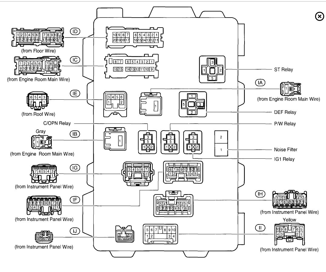 2004 Toyota Solara Fuse Box Diagram 35 Wiring Images Original Starter Relay And Where Is The