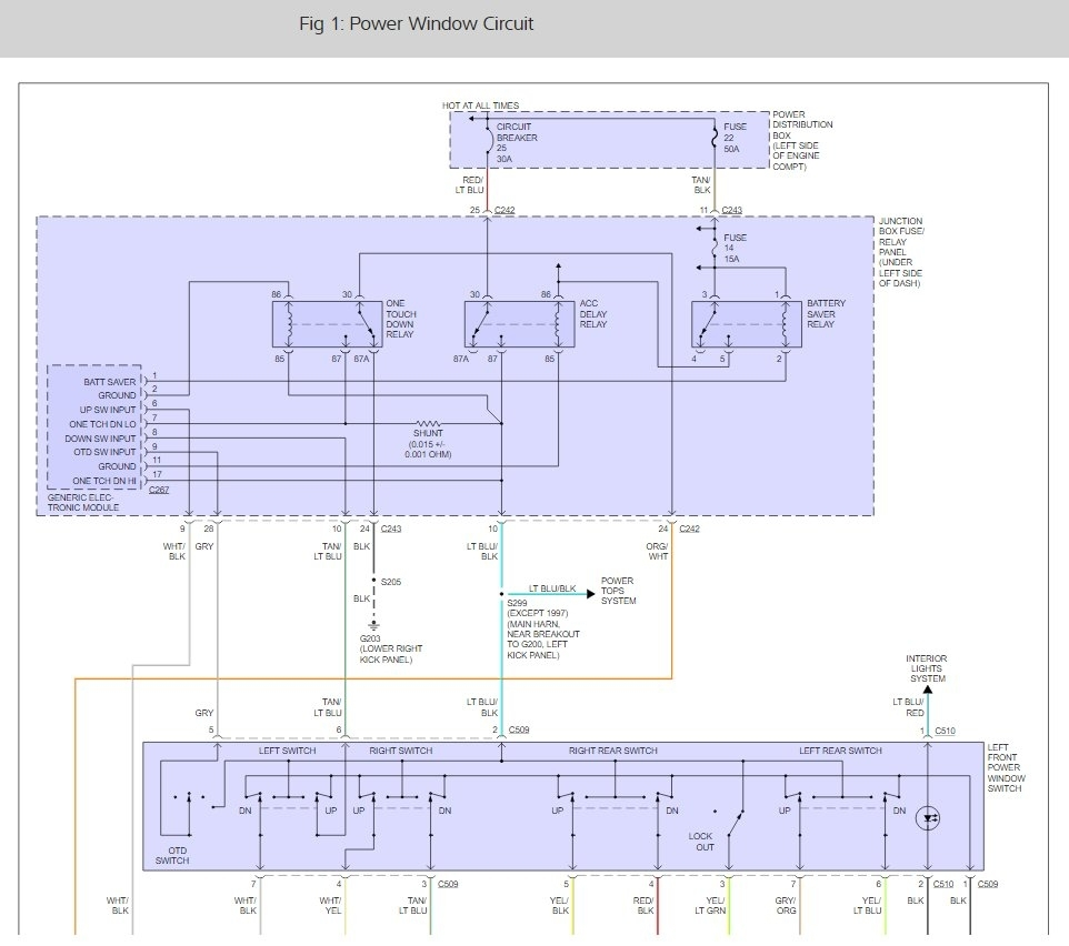 Power Windows Fuse Location None Of My Work Where 1998 Navigator Diagram Thumb