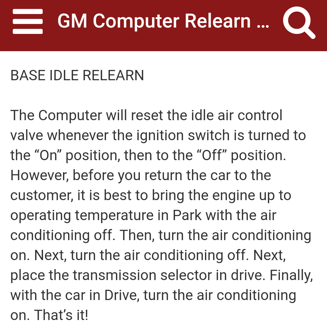 Idle Air Control Valve Issues: This Is a List of the New