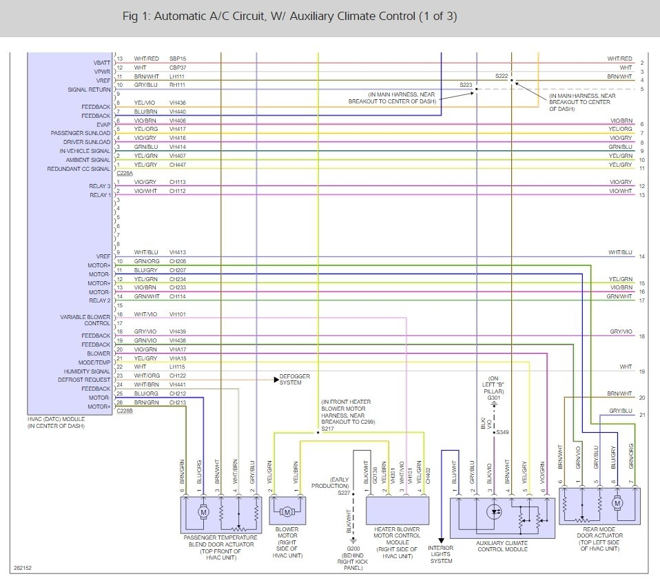 Ac Front Will Not Blow But Rear Blows Okay 2009 Ford Flex Hvac Control Wiring Diagrams Thumb