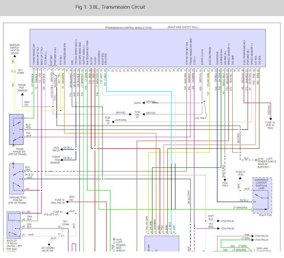 A604 Trans Wiring Diagram 94 | Wiring Liry on