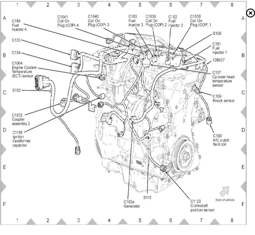 ford escape fan sensor locations