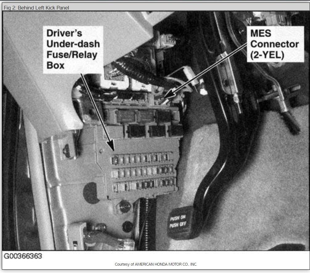 Honda Odyssey Fuse Box