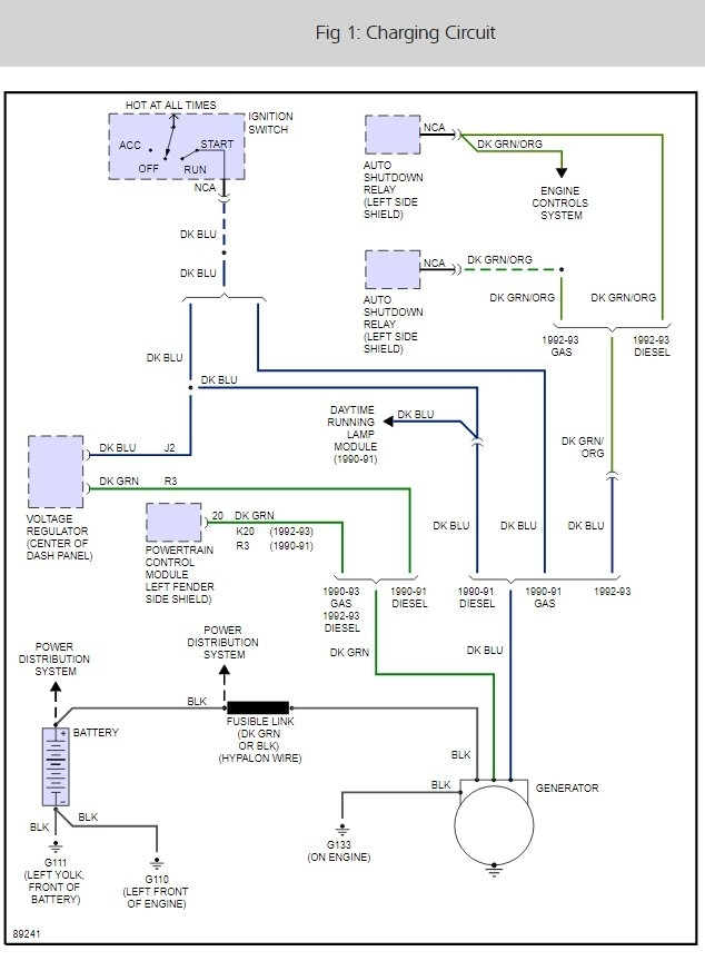 1 Wire Alternator Wiring Diagram Dodge