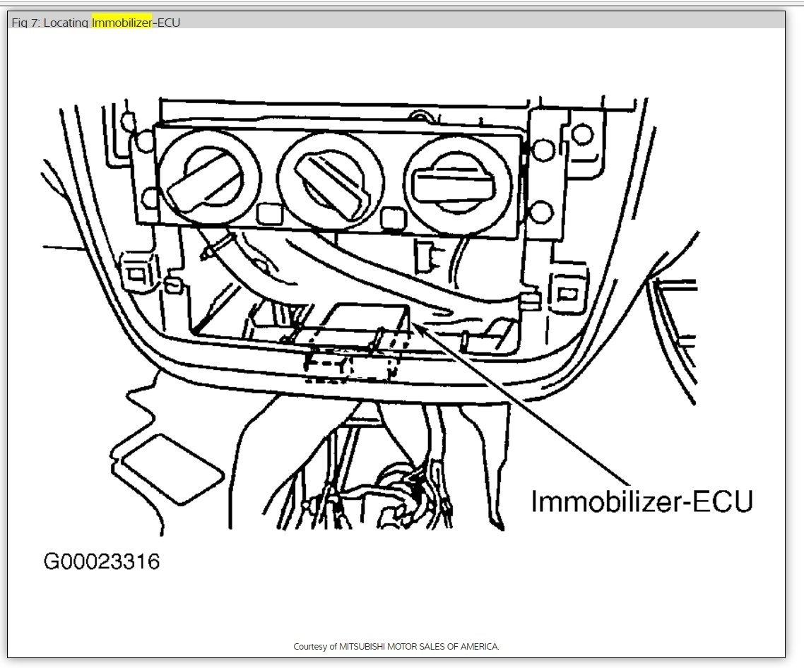 p1610 immobilizer system malfunction car came in died while Mitsubishi Endeavor Wiring Diagram thumb