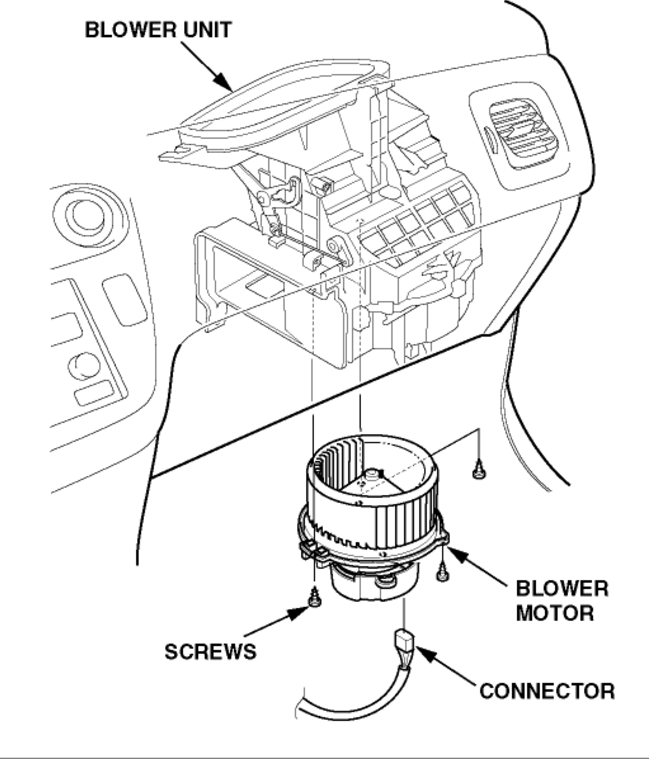 Air Blower Diagram : Car air conditioner fan not working engine diagram and