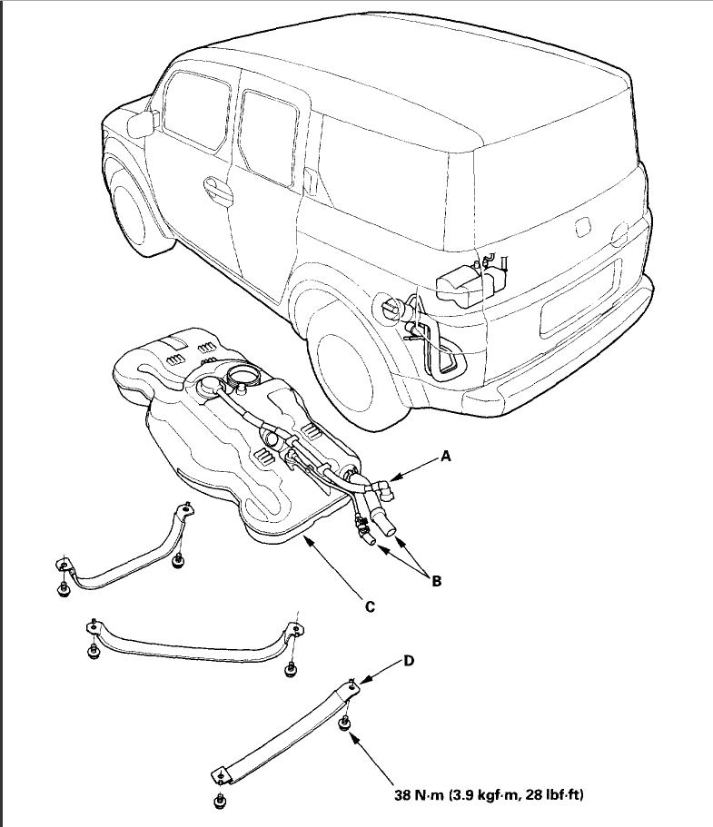 Honda Element Fuel Filter Location