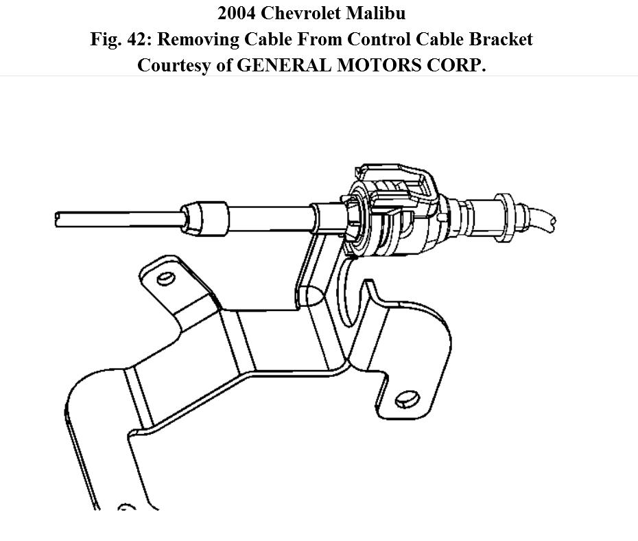 service manual  how do i unhook transmission shift cable