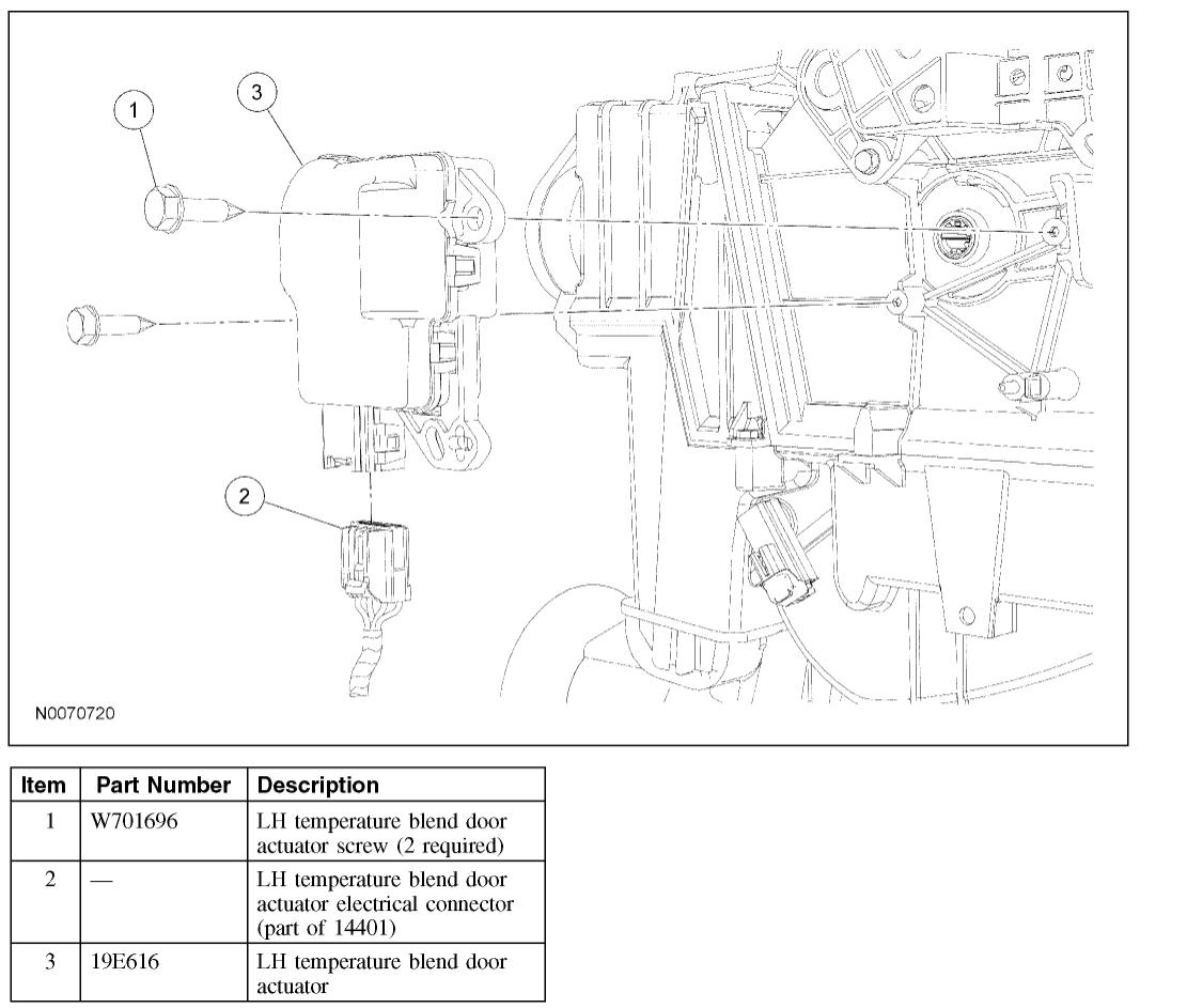 Blend Door Actuator   The Ac And Heater Temperatures Work