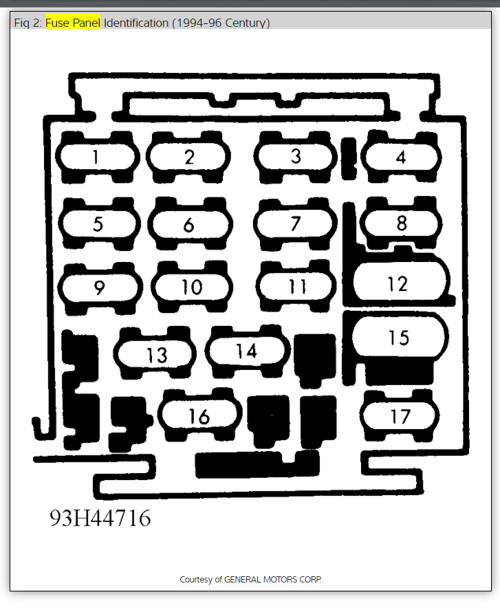 95 buick riviera fuse box diagram