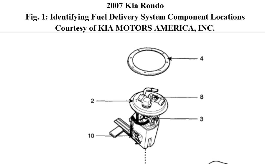 2007 kia rondo fuel filter diagram
