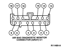 Location of Airbag Code Reset Plug: Had An Airbag Code