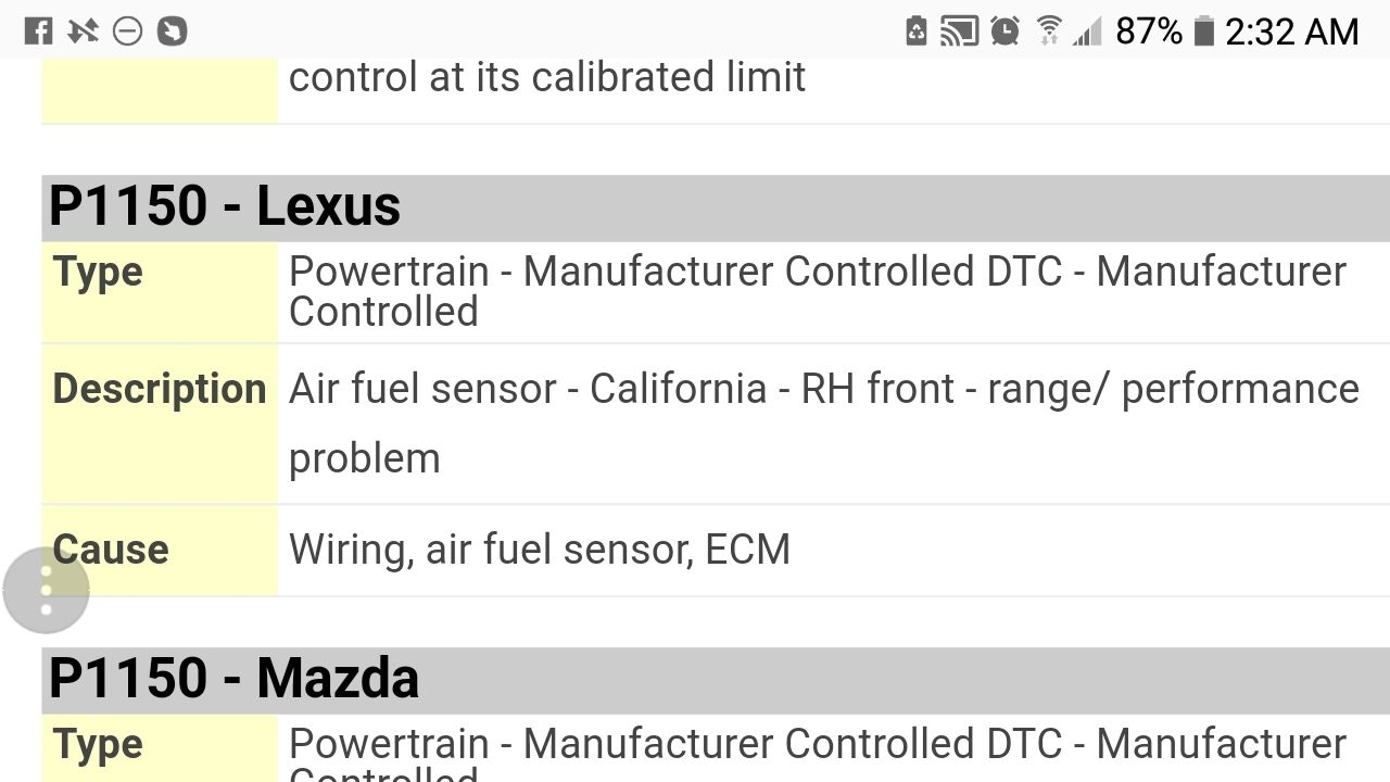 Oxygen Sensor Location: Got Code P1150  Autozone Computer