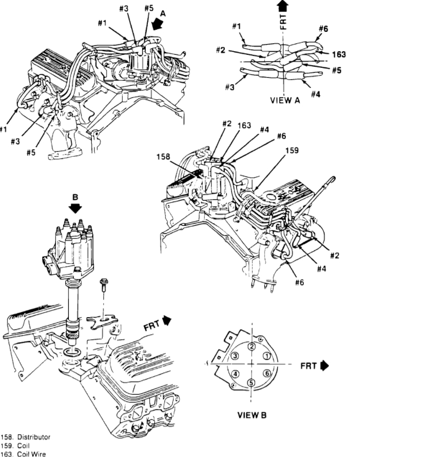 1994 chevy silverado distributor cap diagram