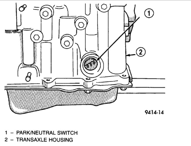 neutral safety switch location  four cylinder front wheel drive