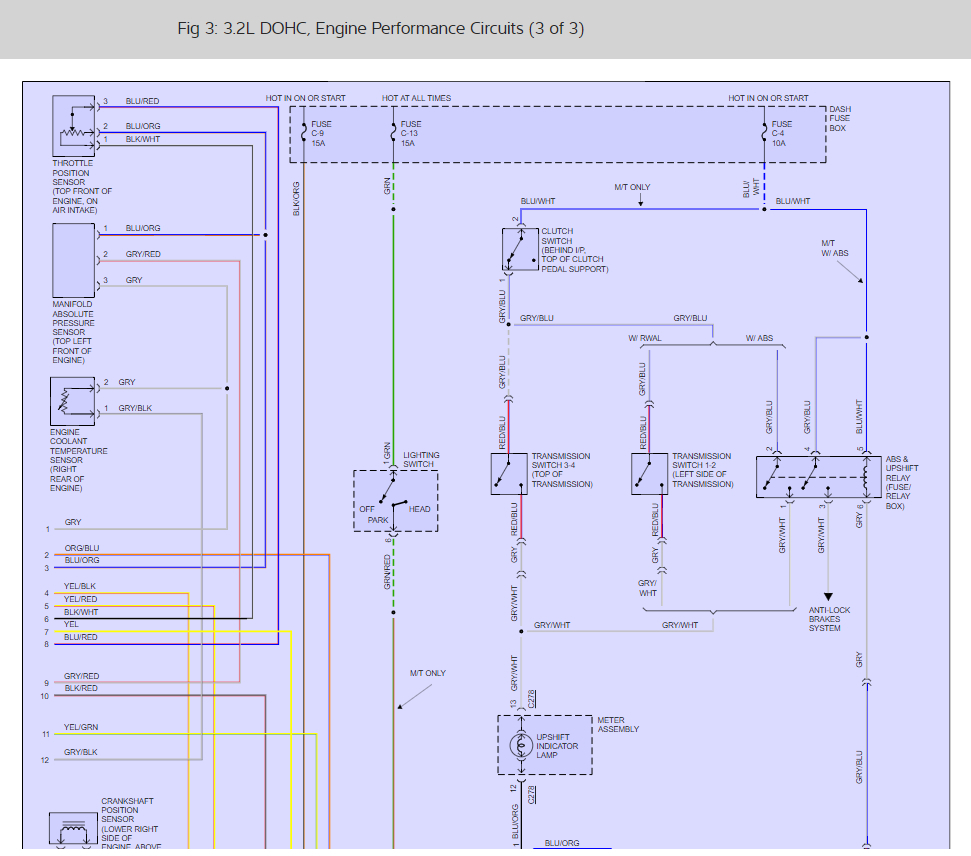 1992 Isuzu Trooper Electrical Wiring Diagrams Troubleshooting Service