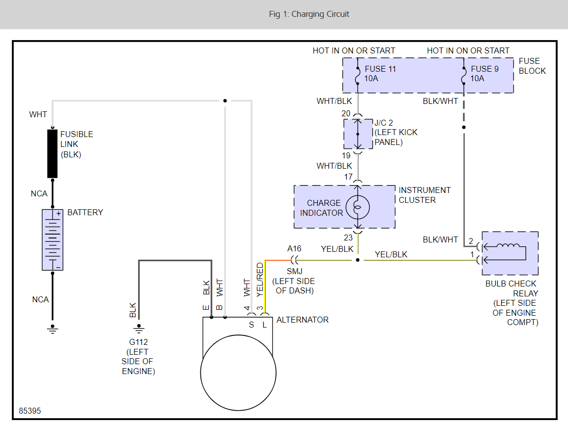1989 Nissan Pickup Alternator Wiring Diagram : Alternator not charging electrical problem cyl two