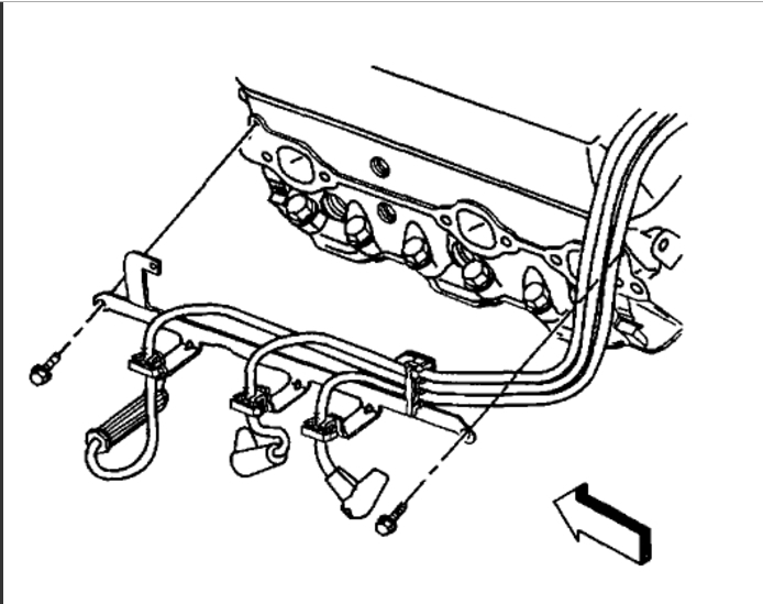 spark plug wiring diagram  six cylinder two wheel drive