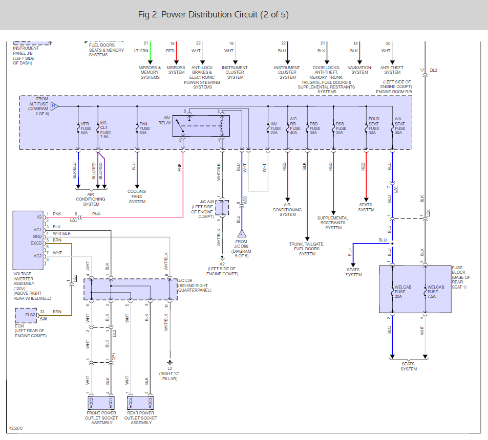 location of acc relay  twelve volt outlets not working Wiring Diagram for 2011 Toyota Avalon Rear Defroster
