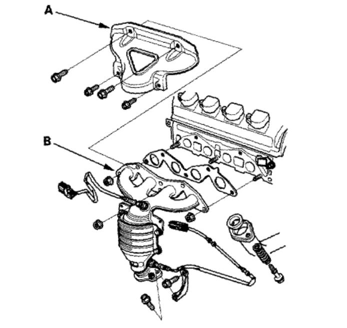 Civic Cylinder Head Removal: Head Gasket-head Bolts Torque Specs: Four Cylinder Front