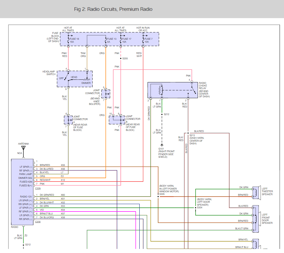 Stereo Wiring Diagrams  V8 Engine  I Need The Color Code