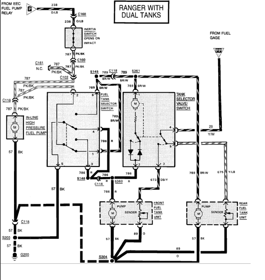 1988 Ford Ranger Fuel System Diagram
