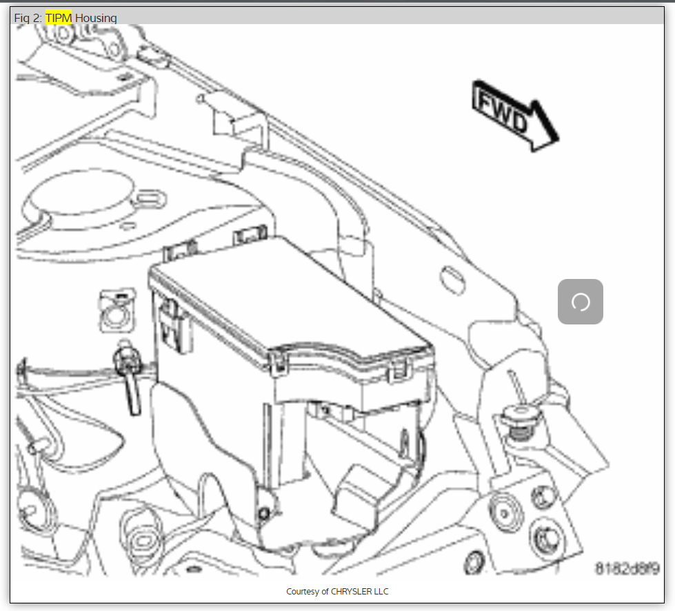 2012 dodge avenger battery location