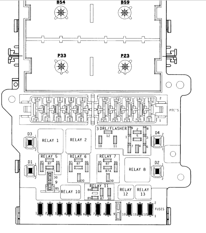 fuse box diagrams  electrical problem 1996 dodge caravan 6
