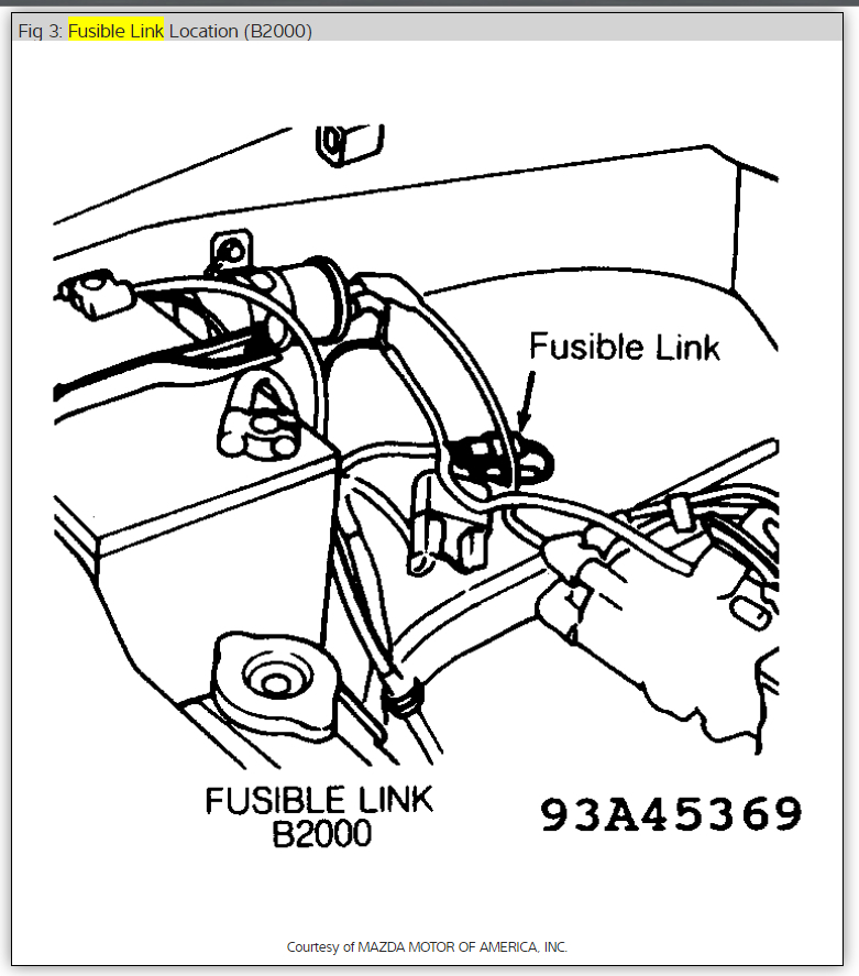 1986 mazda b2000 signal flasher location