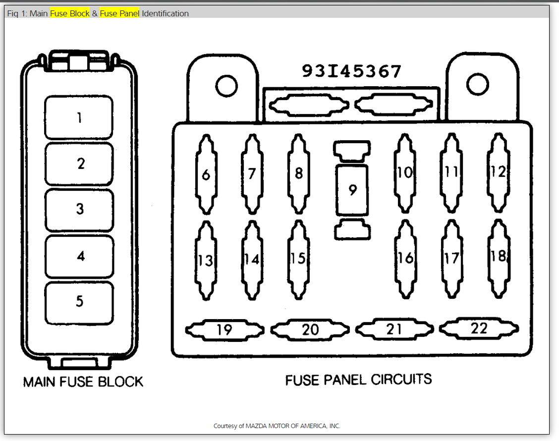 turn signal flasher i have a 1987 mazda b2000 and my turn signals rh  2carpros com 2003 Mazda 6 Fuse Box Diagram 1999 Mazda 626 Fuse Box Diagram