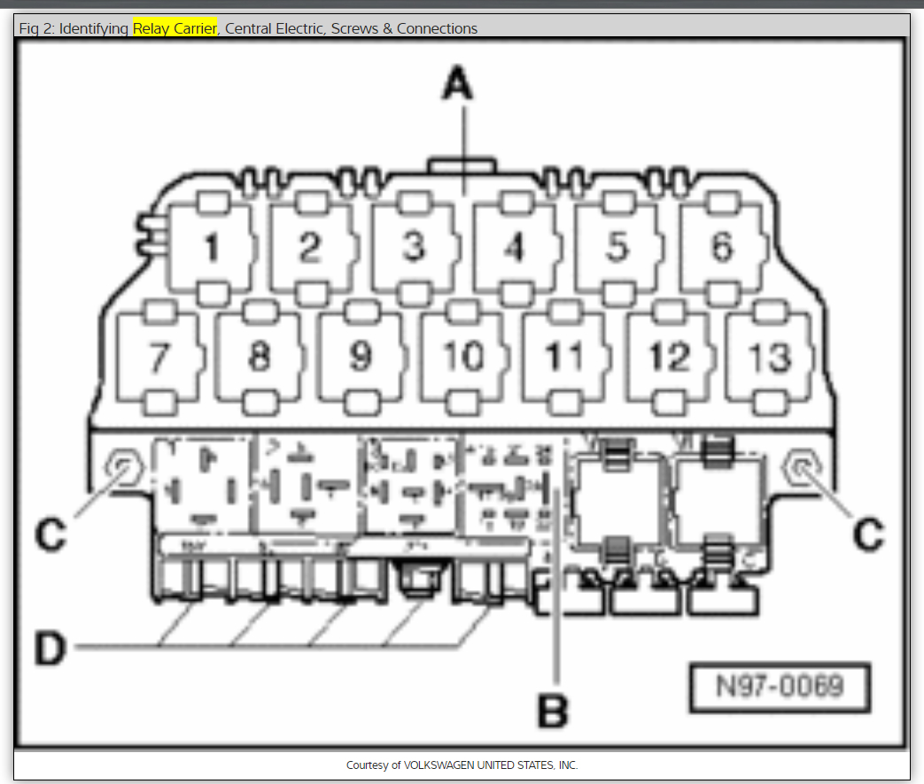 1999 volkswagen passat relay diagram