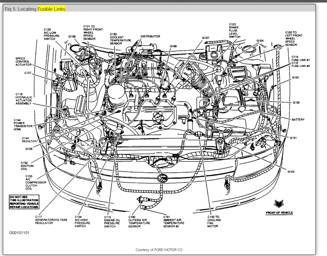 1996 Mercury Grand Marqui Engine Diagram