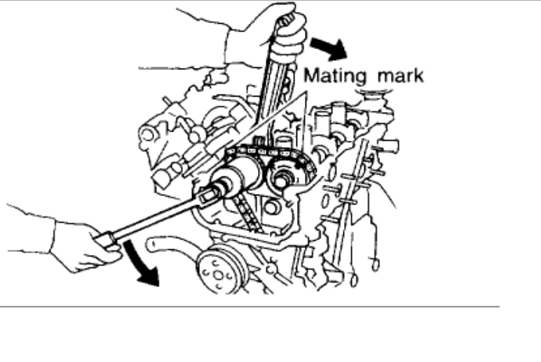 Timing Chain Marks Engine Mechanical Problem 4 Cyl Front Wheel