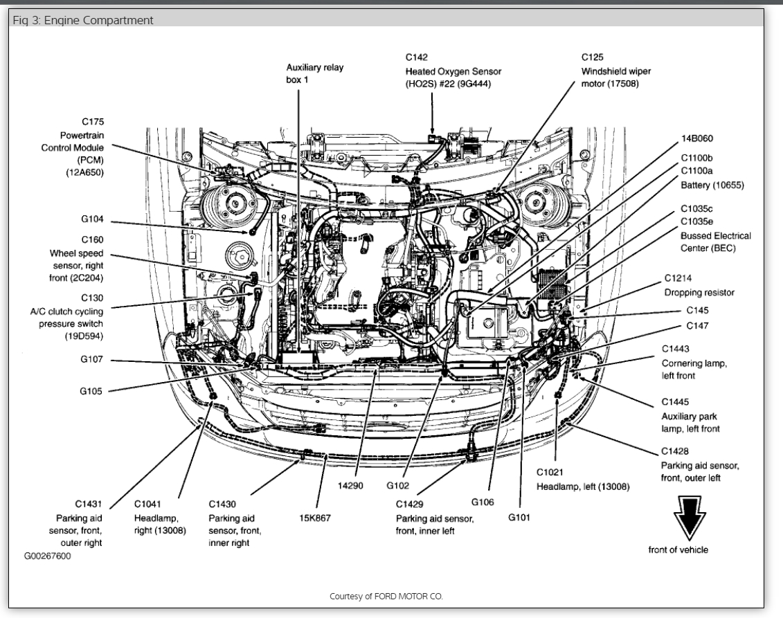Original on 2006 Ford Freestyle Fuse Box Diagram