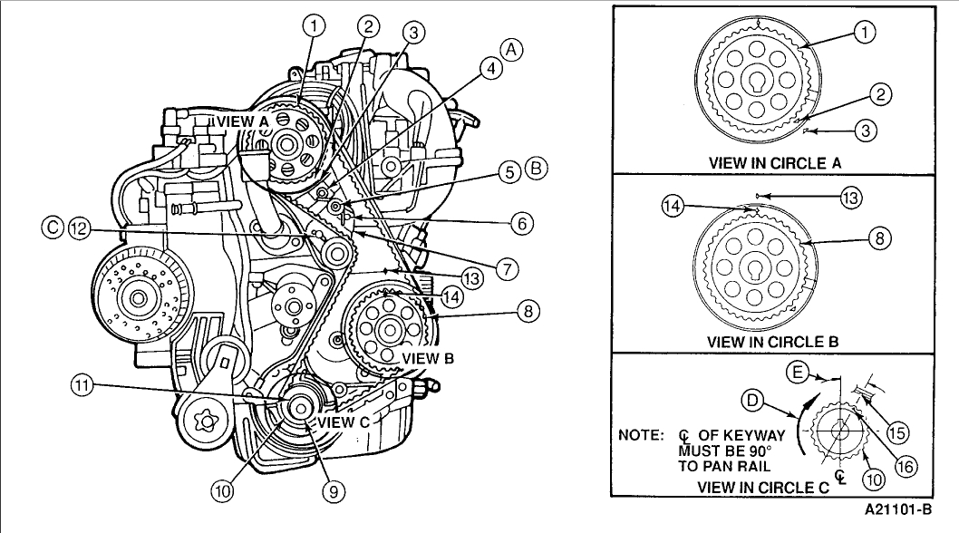 timing marks for a 2.3 engine: what do the timing marks ... ford 2 3 timing marks diagram