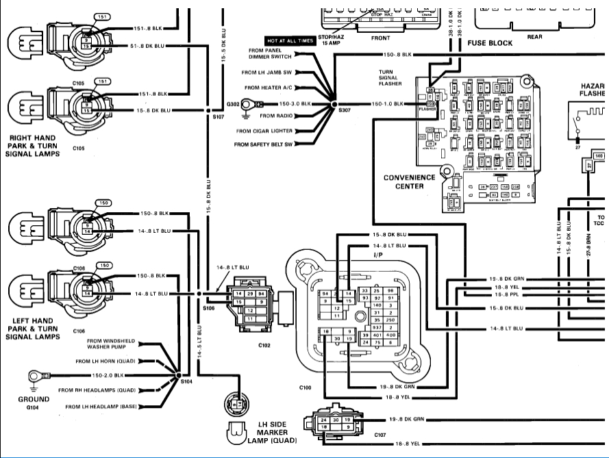 1989 gmc jimmy wiring diagram no turn signals: electrical problem 1989 chevy truck v8 ... 1989 gmc headlight wiring diagrams