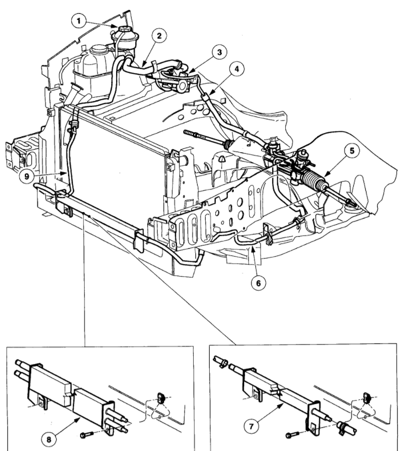 1998 Ford Windstar Steering Diagram