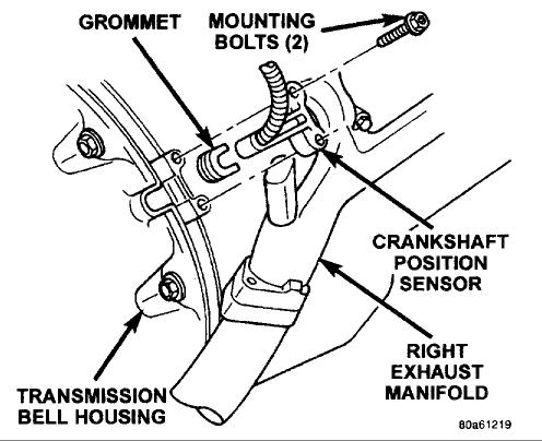 Original on Dodge Ram Crankshaft Position Sensor