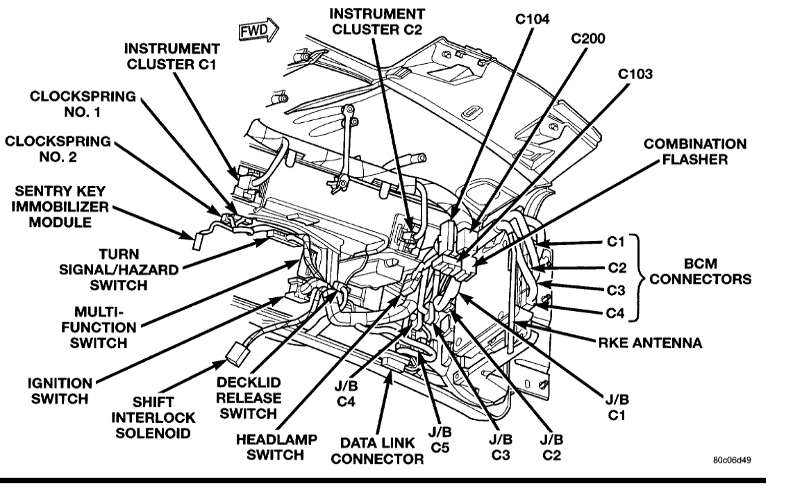 94 chrysler lhs wiring diagram no turn signals or flashers replaced relay  signal switch in  no turn signals or flashers replaced